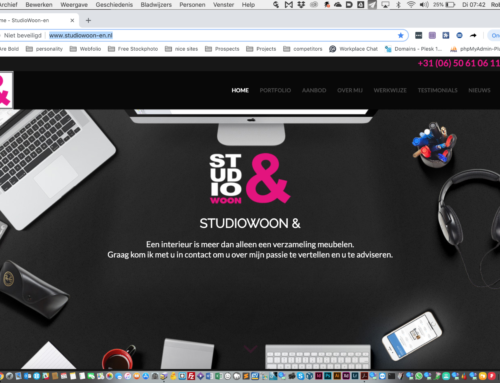 Website StudioWoonen
